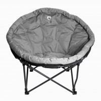 Кресло складное кемпинговое круглое р.104*84*49 см, цвет серый APL-RC707