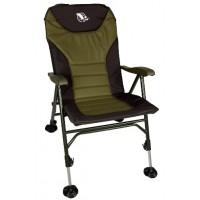"""Кресло  раскладное с откидной спинкой""""Condor"""" 56х46х40/104 хаки/черное HBA-1010"""